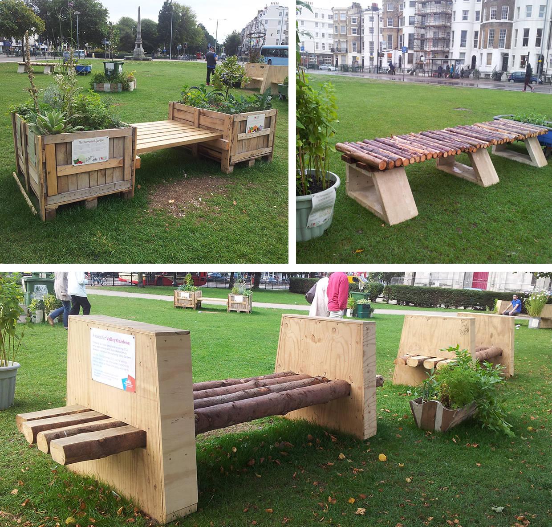 Public bench making project   Brighton