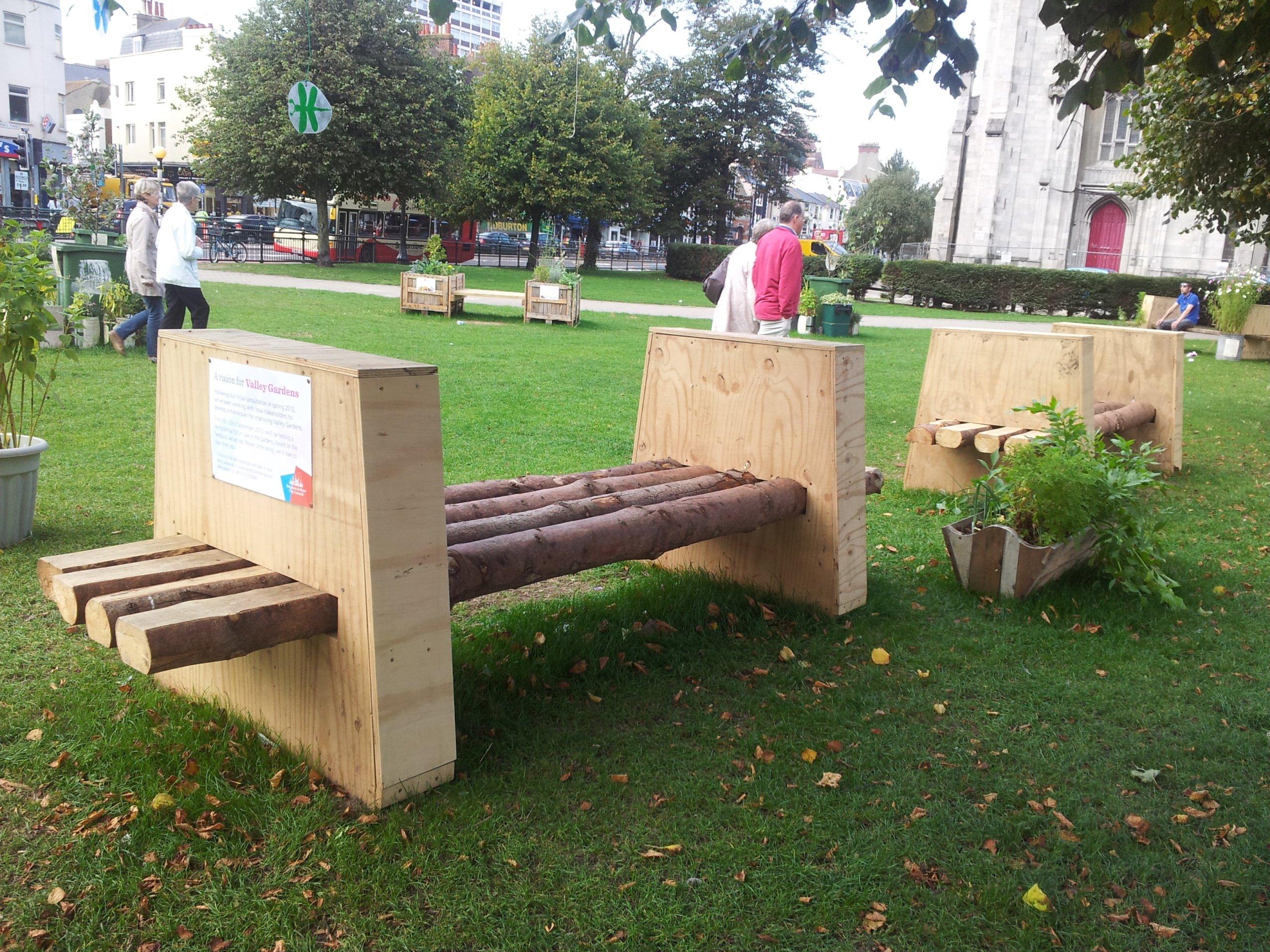 Public bench making project Brighton (2)
